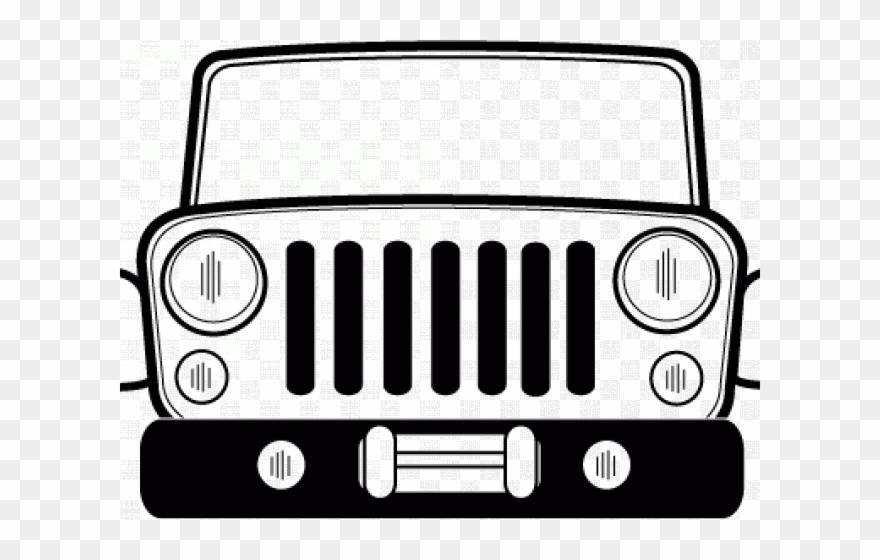 Grill Clipart Jeep Cj.