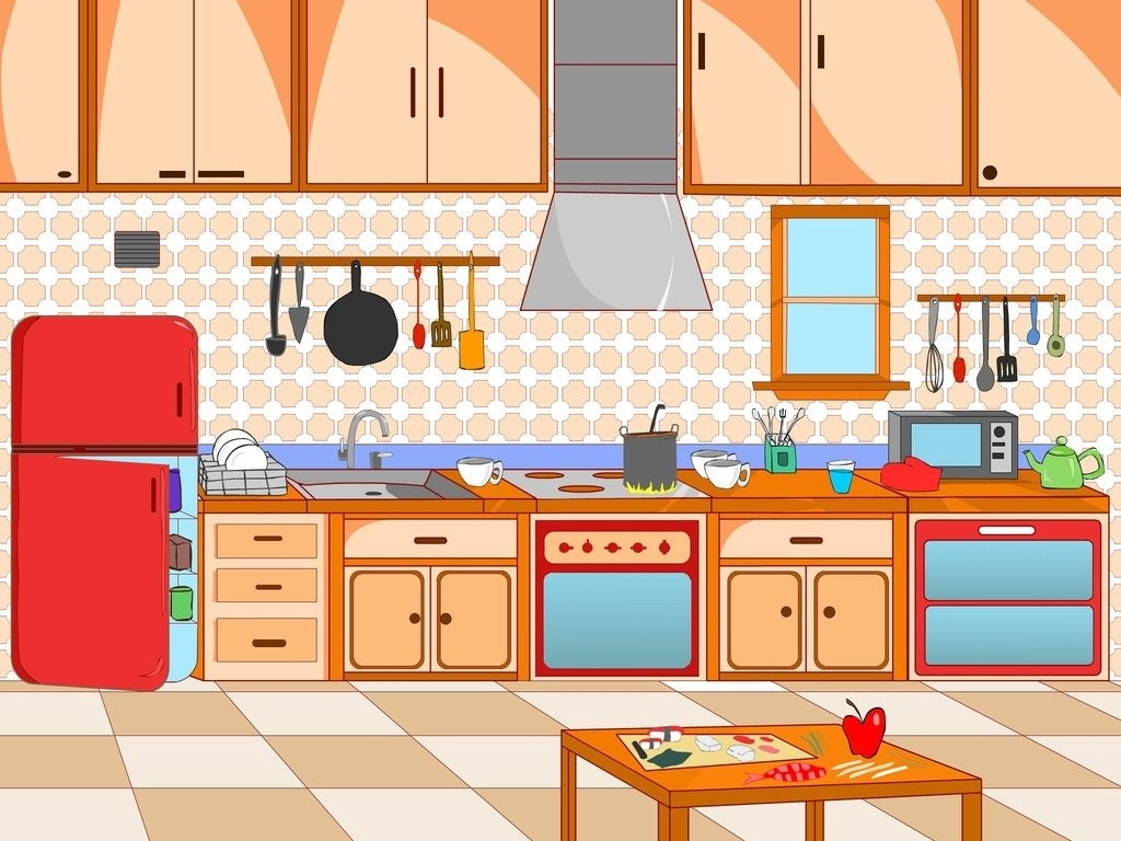 In Clipart Of Kitchen Charming 28 Collection Scene High Quality Free.
