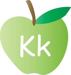 Alphabet letters clip art k.