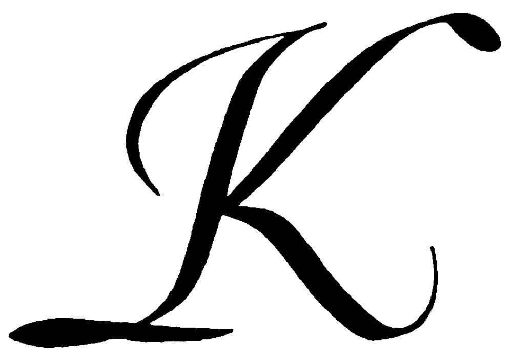 One Line Letter Art : Clipart of a letter k clipground