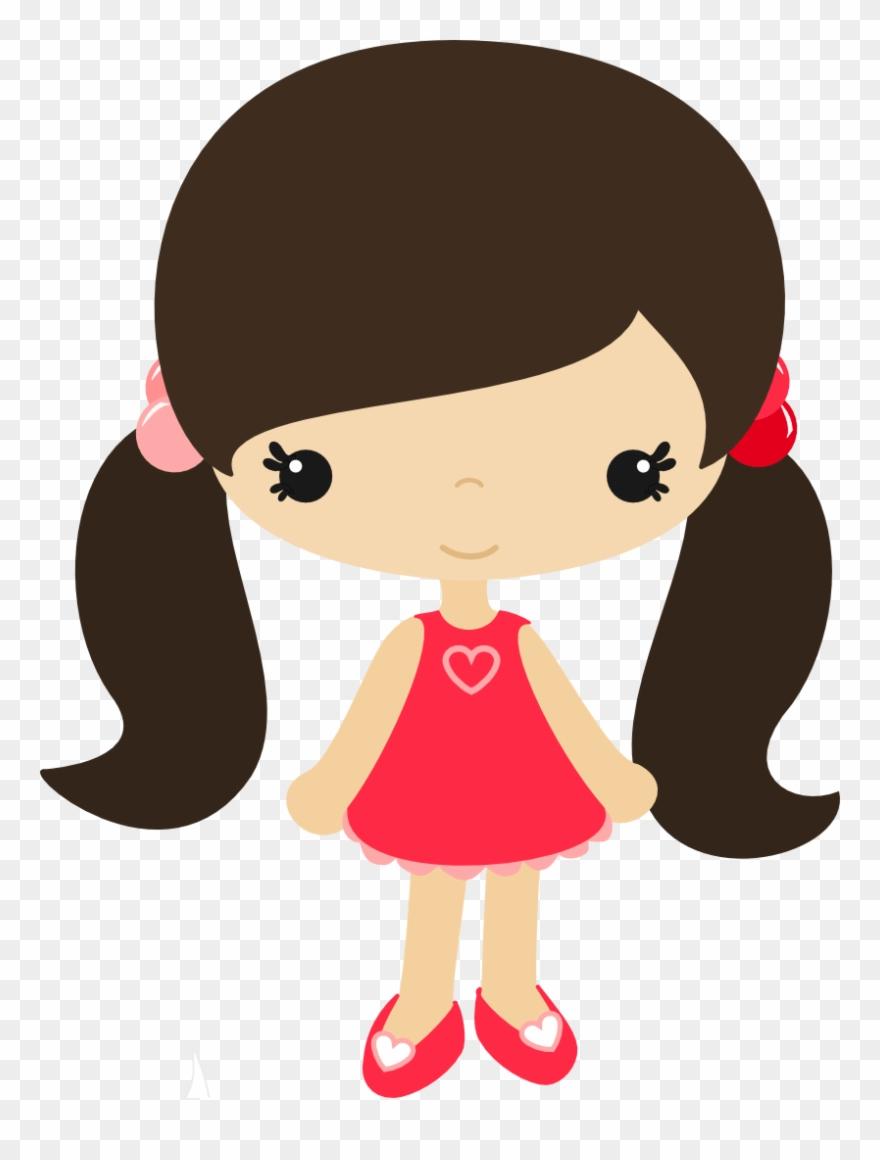 Cartoon Girl Clip Art.