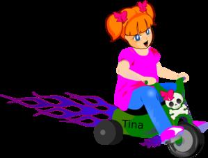 Little Girl On Bike Clip Art at Clker.com.