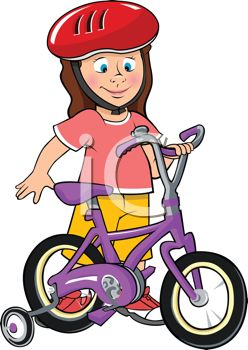 Little Girl with Her First Bike.