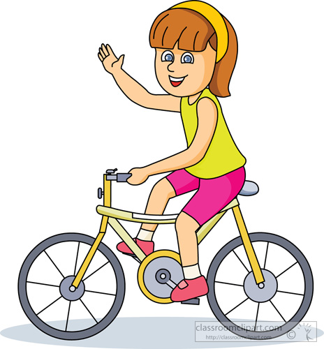 Showing post & media for Little girl riding bike cartoon.