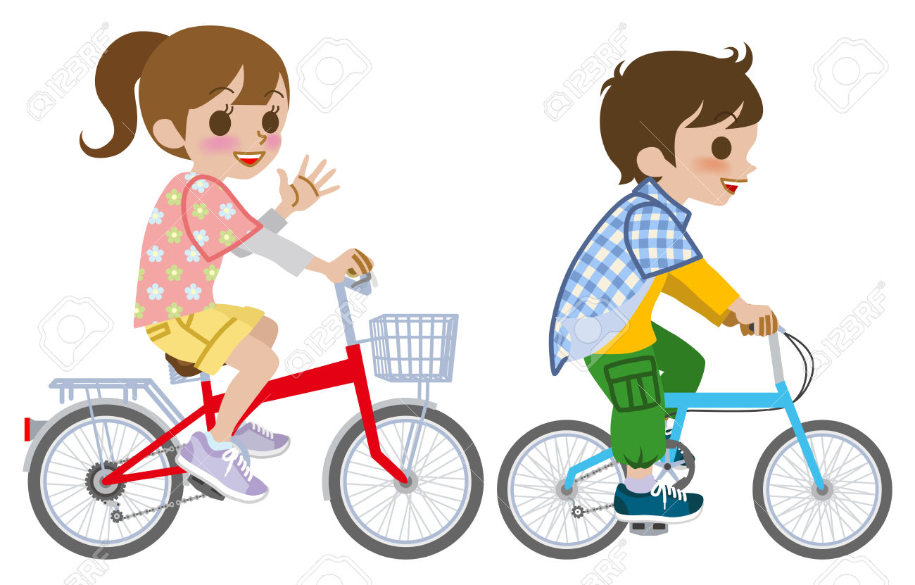 Clipart Of A Little Girl Riding A Bike 20 Free Cliparts