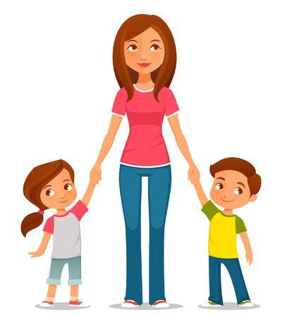 Mom with kids clipart 2 » Clipart Portal.