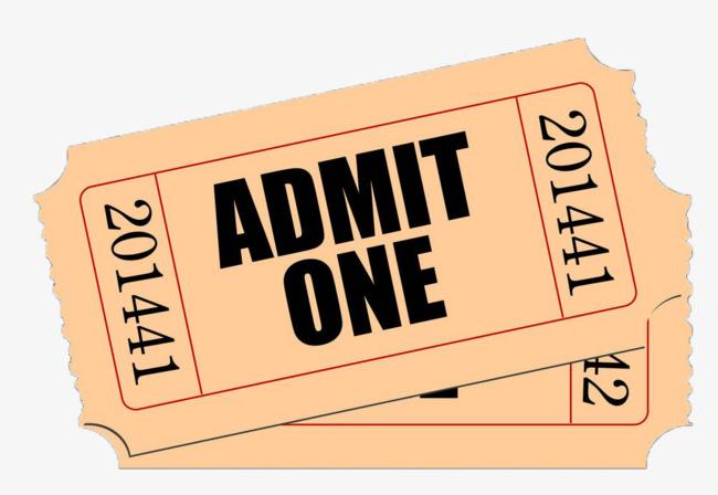 Ticket clipart movie ticket, Ticket movie ticket Transparent.