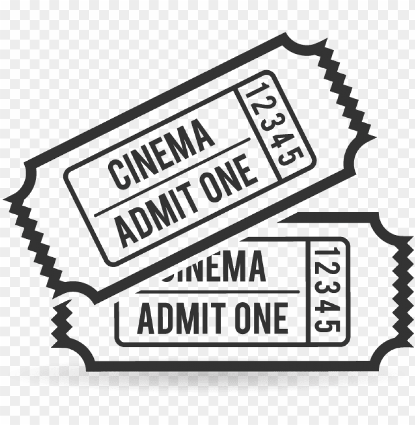 clip art transparent movie ticket clipart black and PNG.