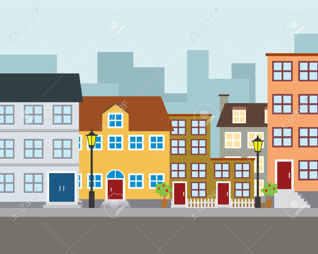 Neighborhood Clip Art, Neighborhood Free Clipart.