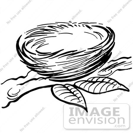 61917 Clipart Of A Bird Nest.