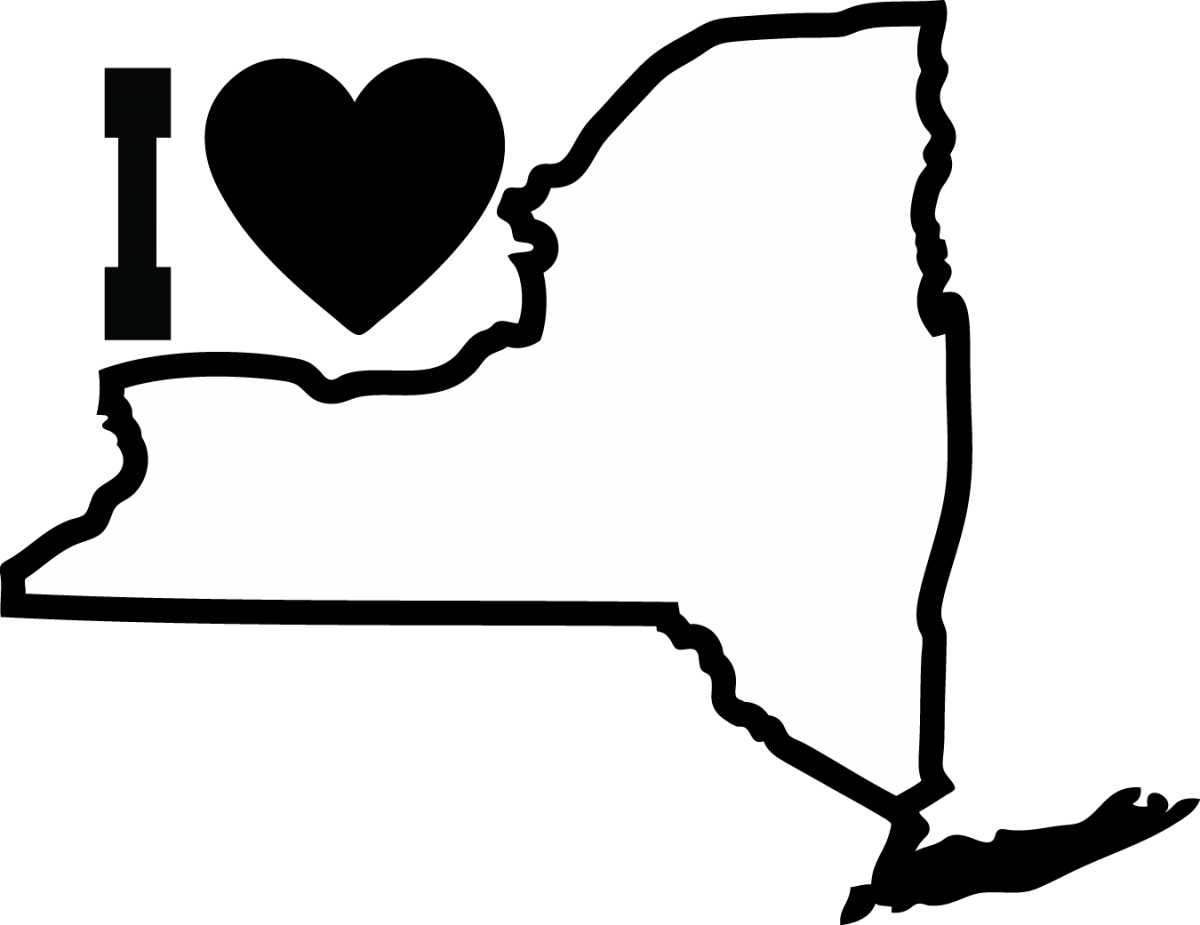 State Of New York Map Outline.