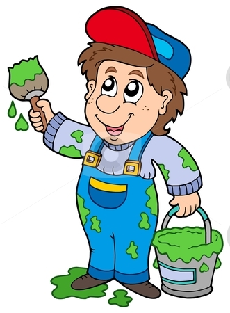 Wall painter clipart 3 » Clipart Station.