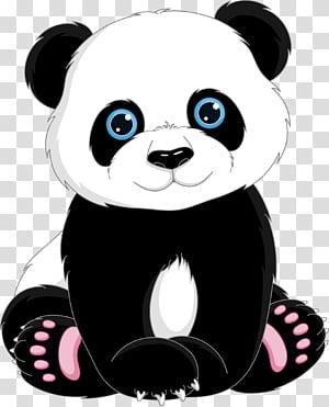 Giant panda Bear Cartoon , Cute panda mother transparent background.