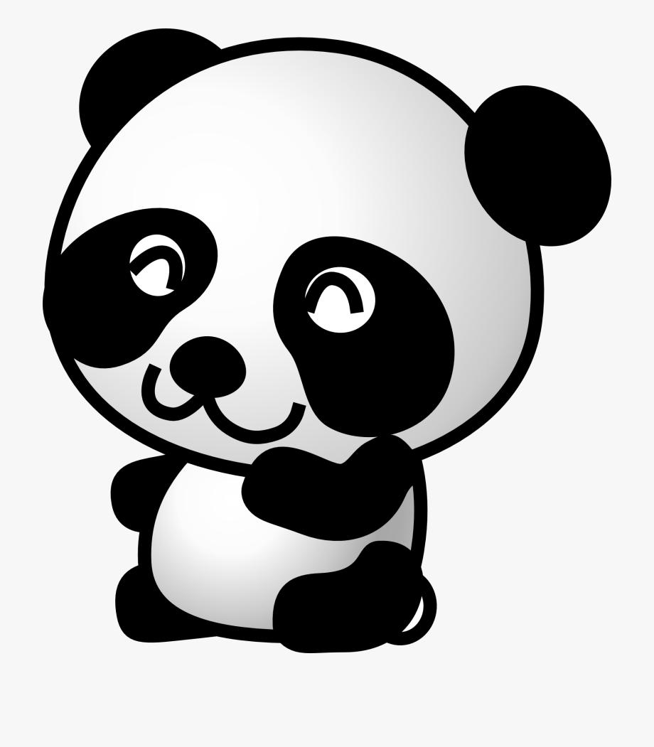 Full Size Of Small Panda Bear Drawing Line Cartoon.