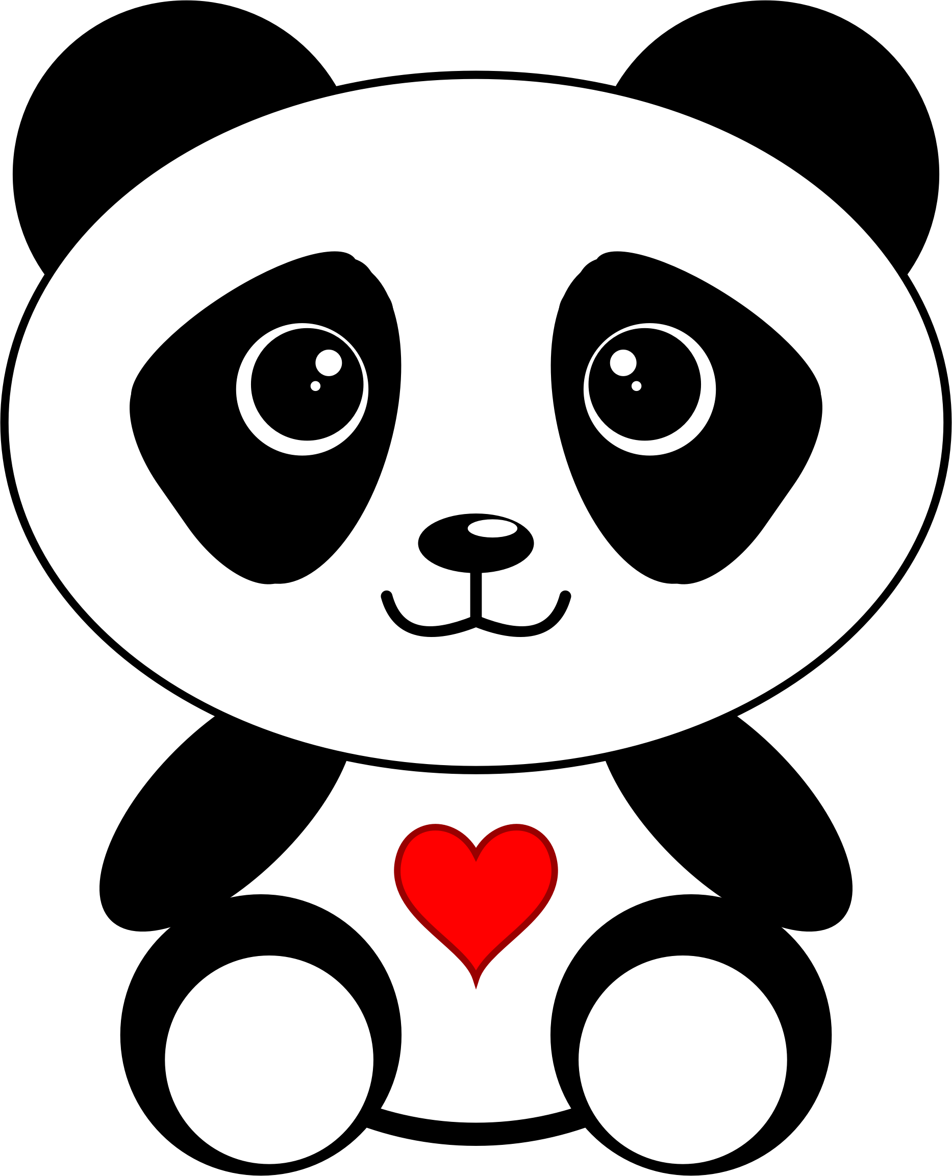 Collection of 14 free Panda clipart heart aztec clipart vintage.