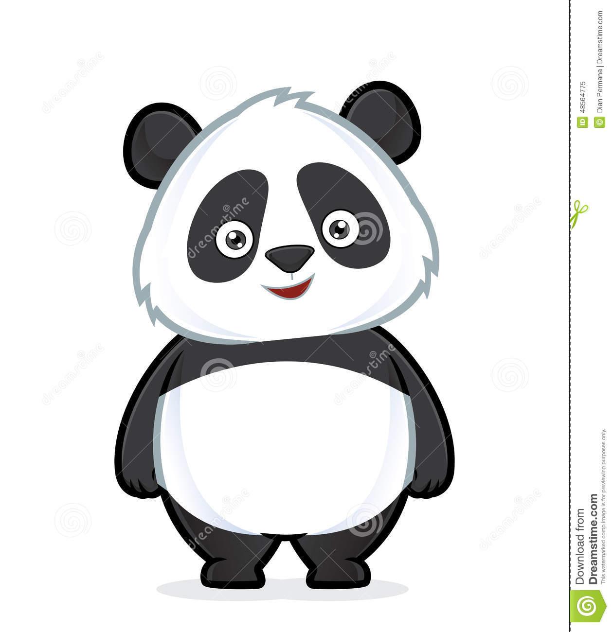 Panda standing stock vector. Illustration of china, cute.