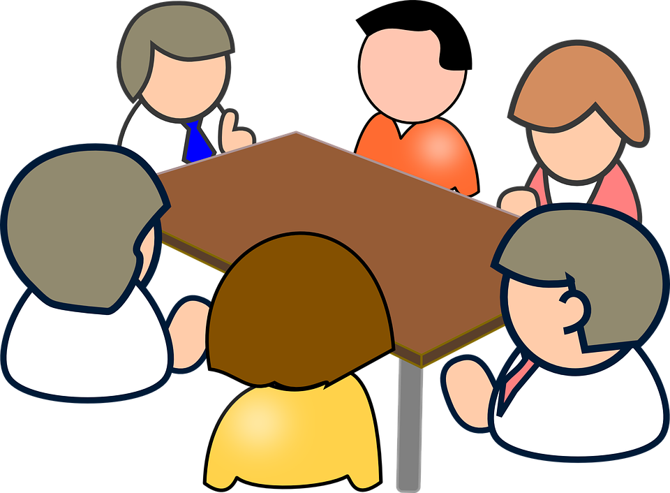 People At A Table Clipart.
