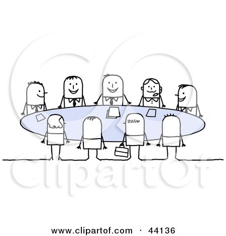 People Seated At A Table Clipart.