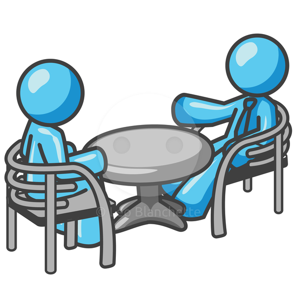 Clipart Of A People At A Table.