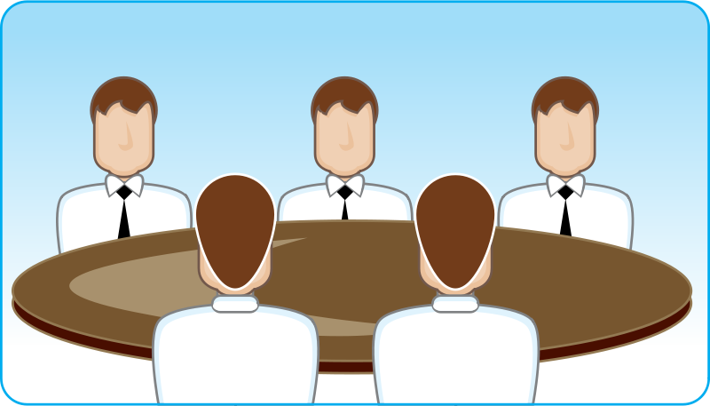 People Sitting Around A Table Clipart.