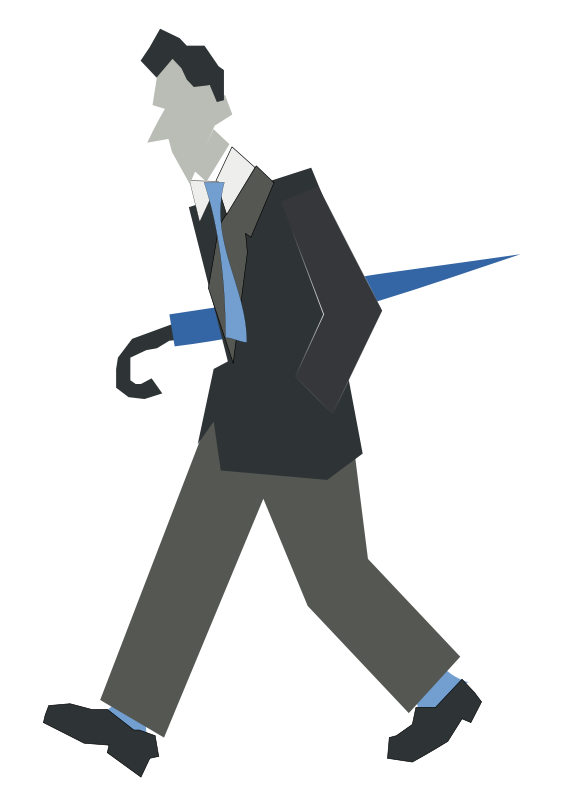 Free Clipart: Man walking.