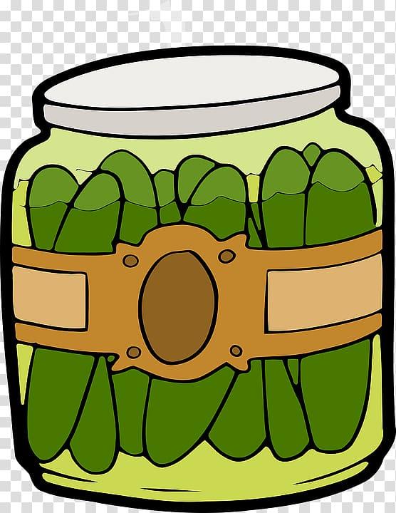 Pickled cucumber In a Pickle Jar , Cucumber canned.