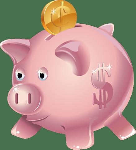 Piggy Bank Clipart transparent PNG.
