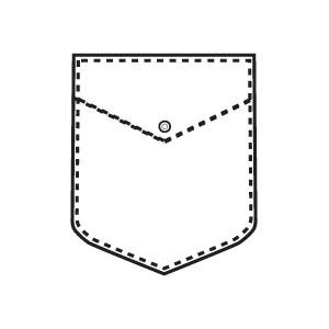 Pocket Clipart Black And White.