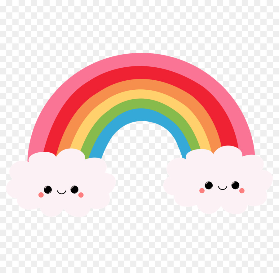 Rainbow Drawing clipart.