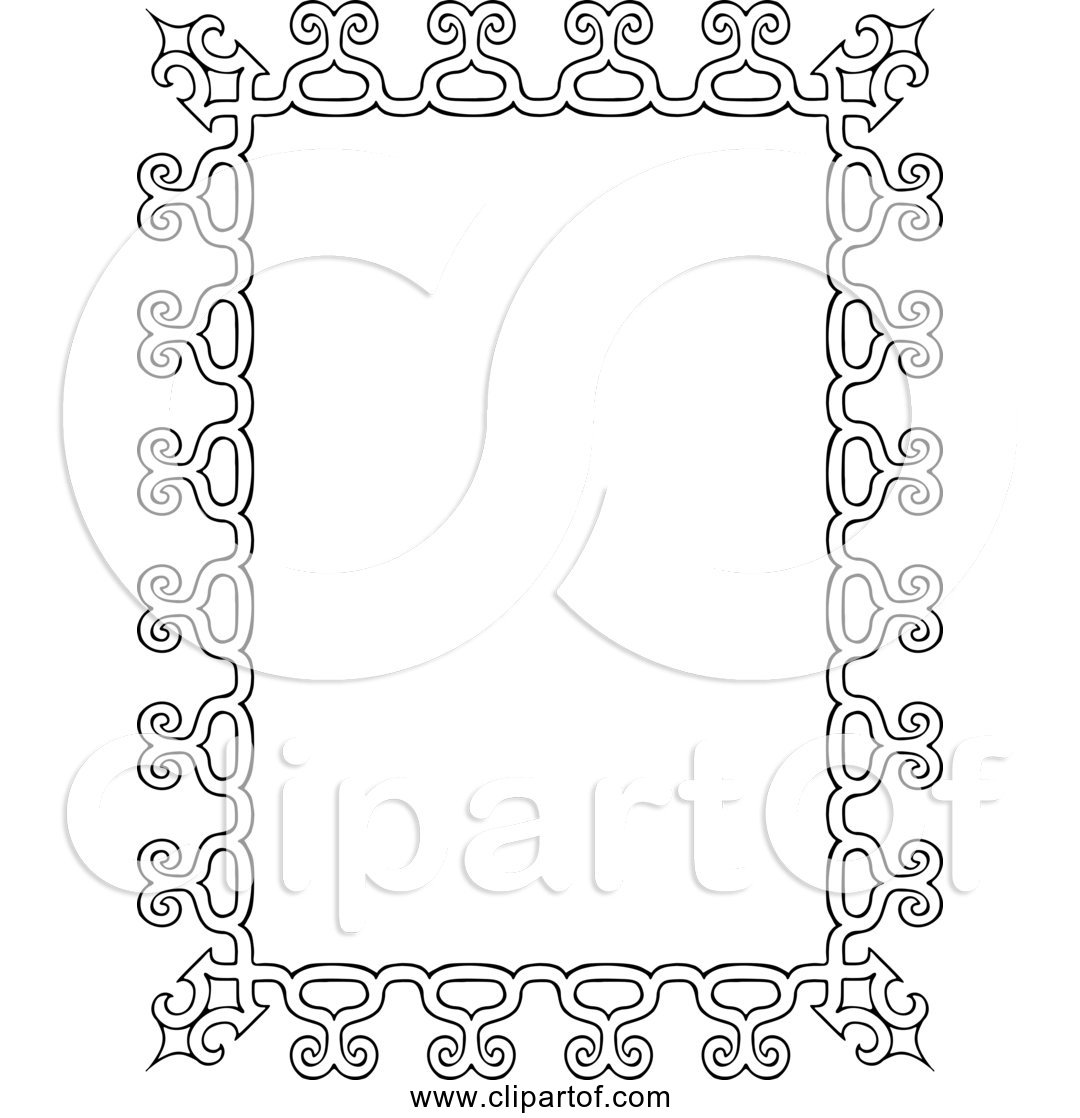 Free Clipart Of a Vintage Rectangle Frame.