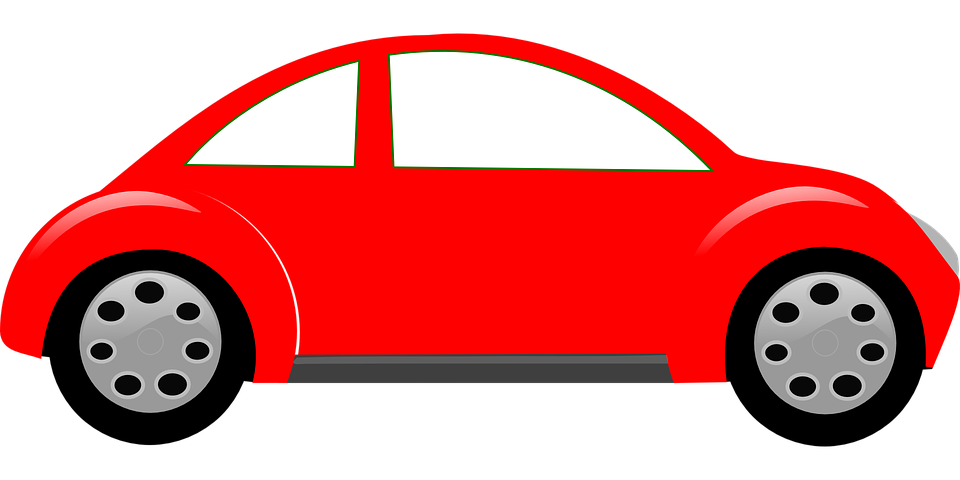 Clipart Of A Red Car