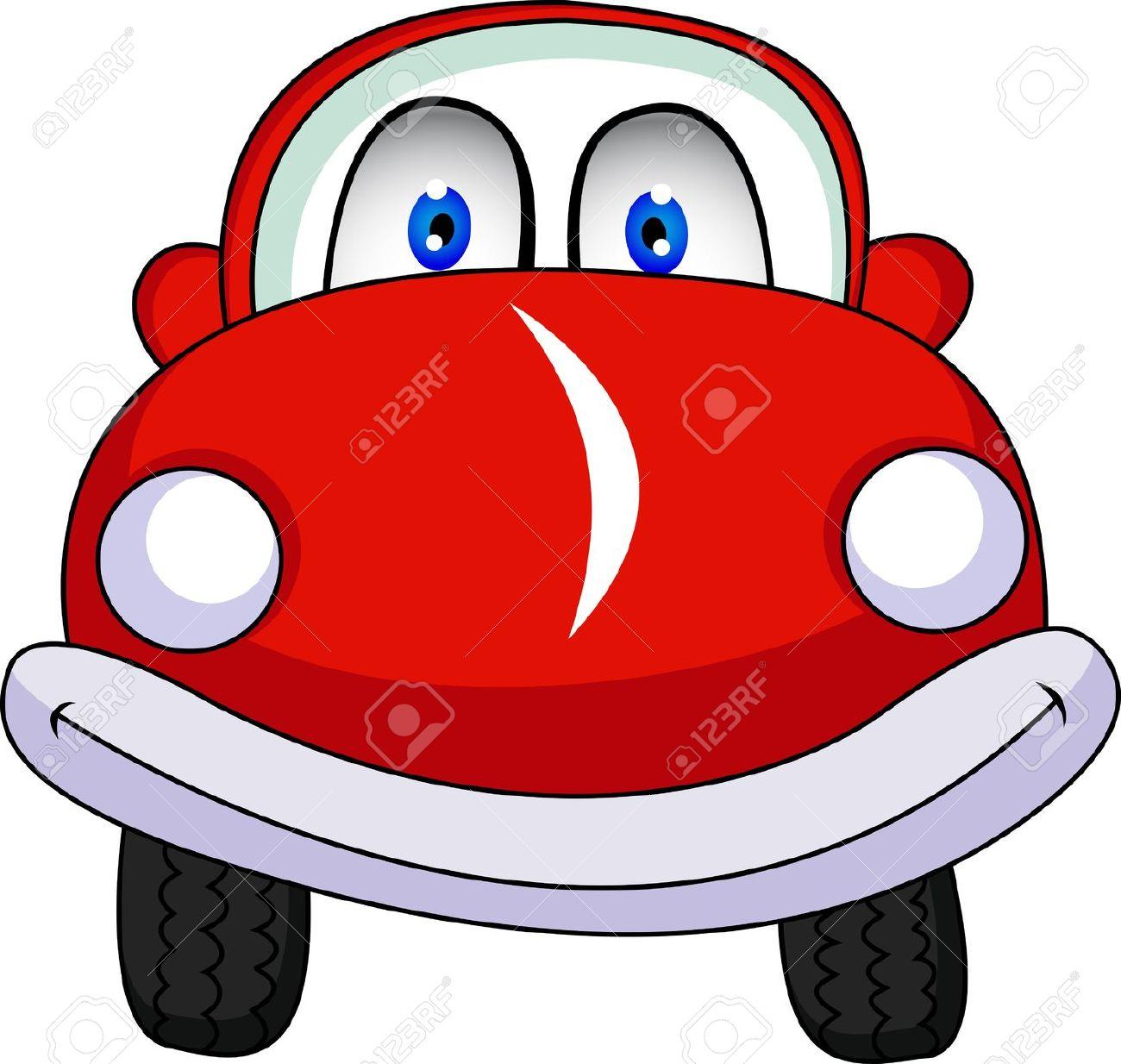 Cartoon Red Car Free Clipart.