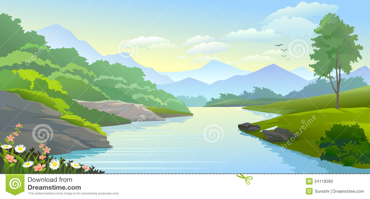 Flowing river clipart 8 » Clipart Station.