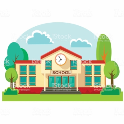 school building , Free clipart download.