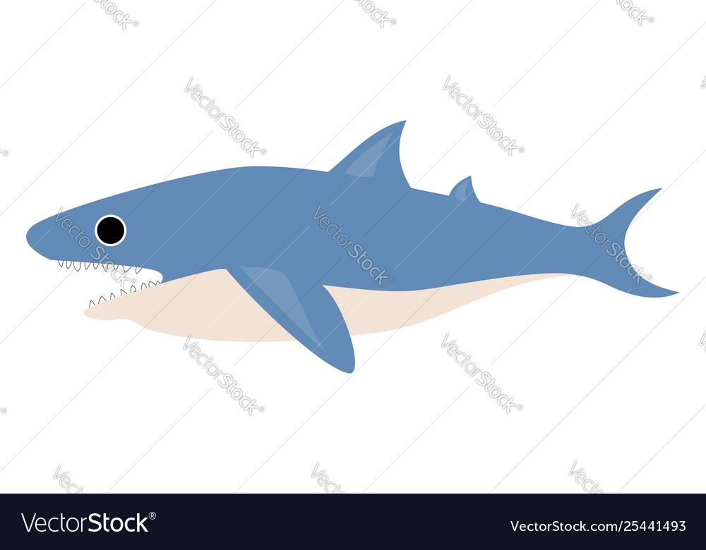 Clipart shark with mouth wide opened while.