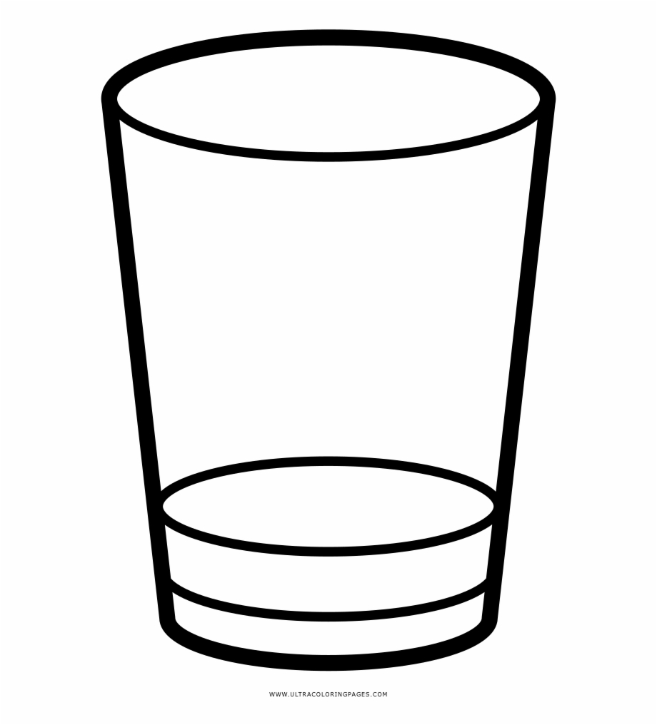 Shot Glass Coloring Page.