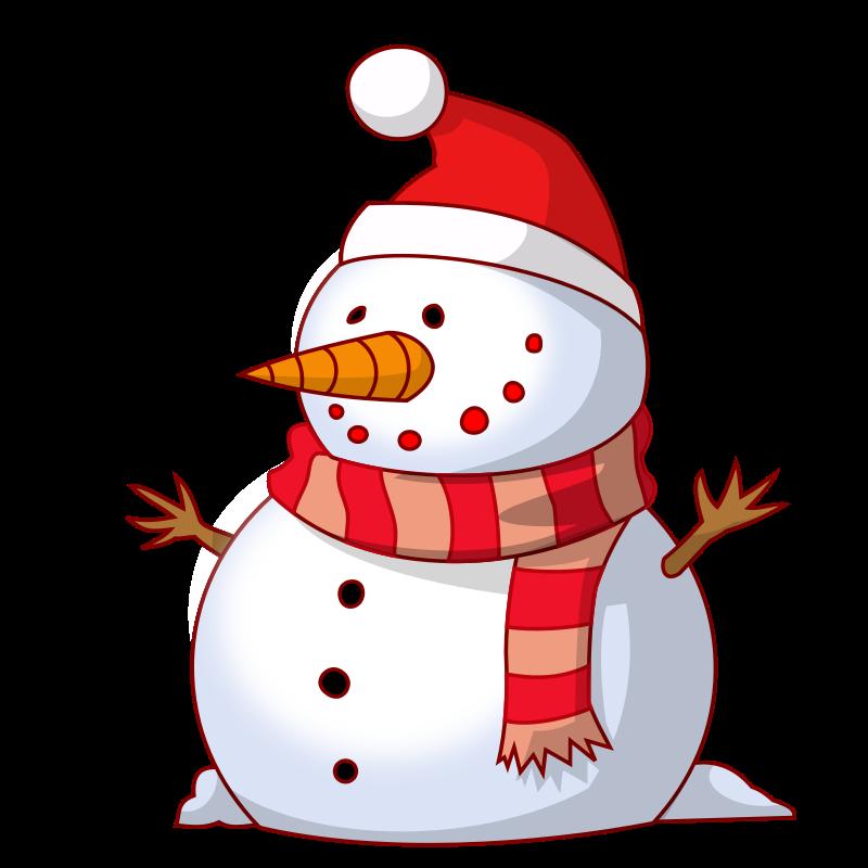 Cute Clipart Snowman.