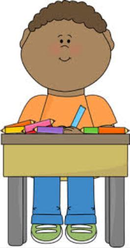 Modeling Student Sitting In Desk Clipart.