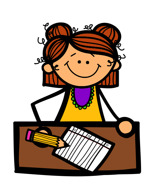 Student Working At Desk, Student Working Free Clipart.
