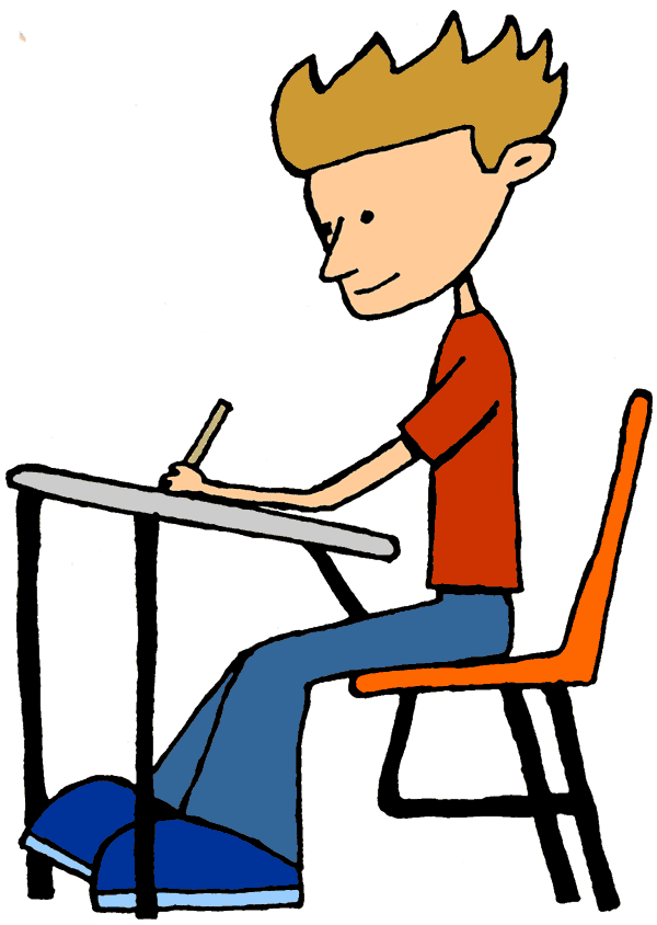 Picture, Student Working Free Clipart.