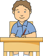 Images: Boy At Desk Working Clipart.