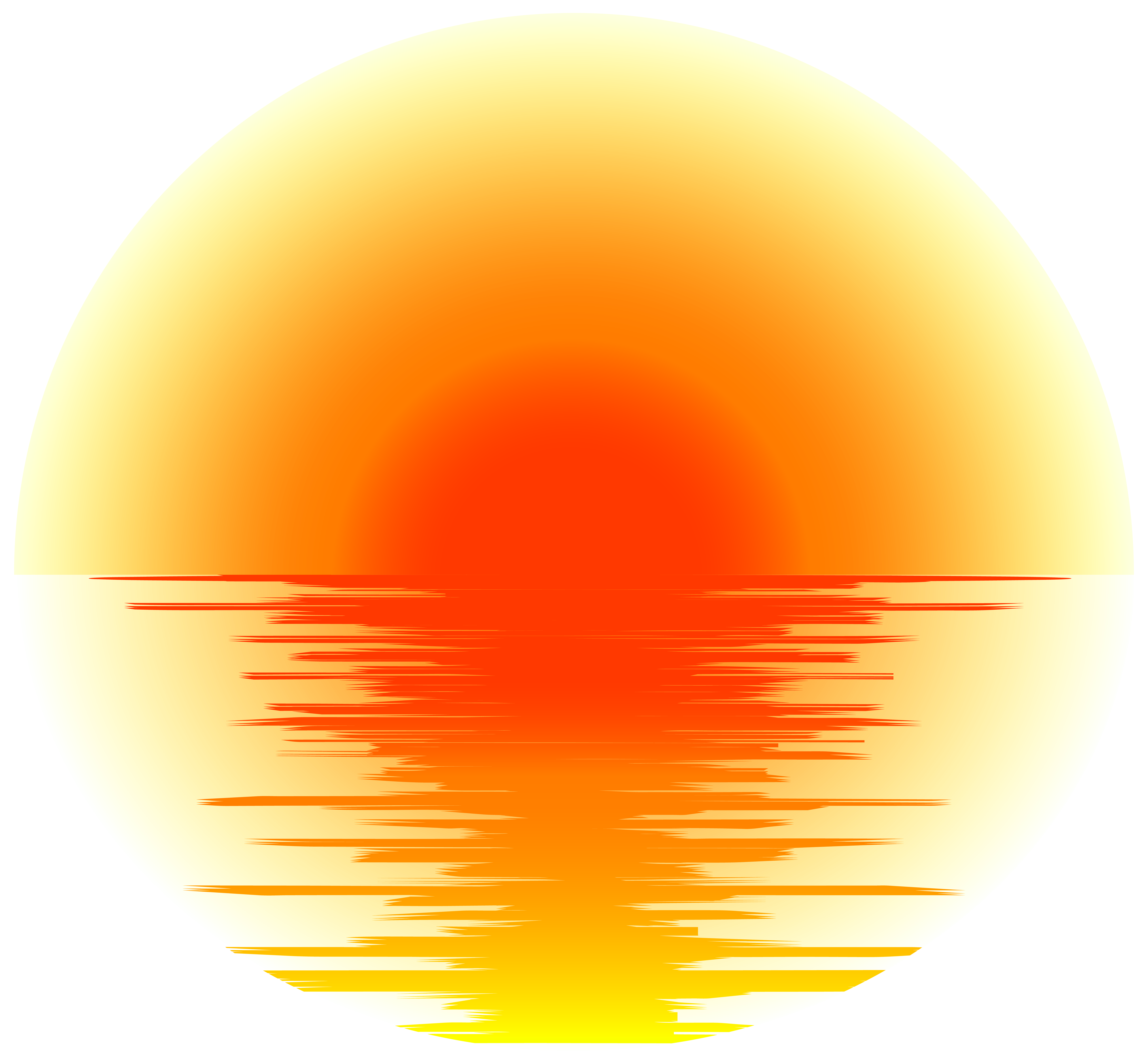 Sunset Effect PNG Transparent Clip Art.