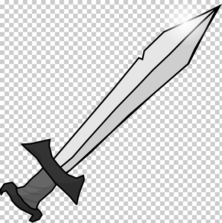 Knightly sword , Sword PNG clipart.