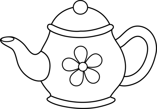 teapot clipart line drawing #522.