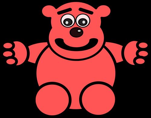 7145 free clipart teddy bear outline.