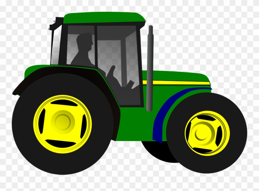 Simple Clipart Tractor.