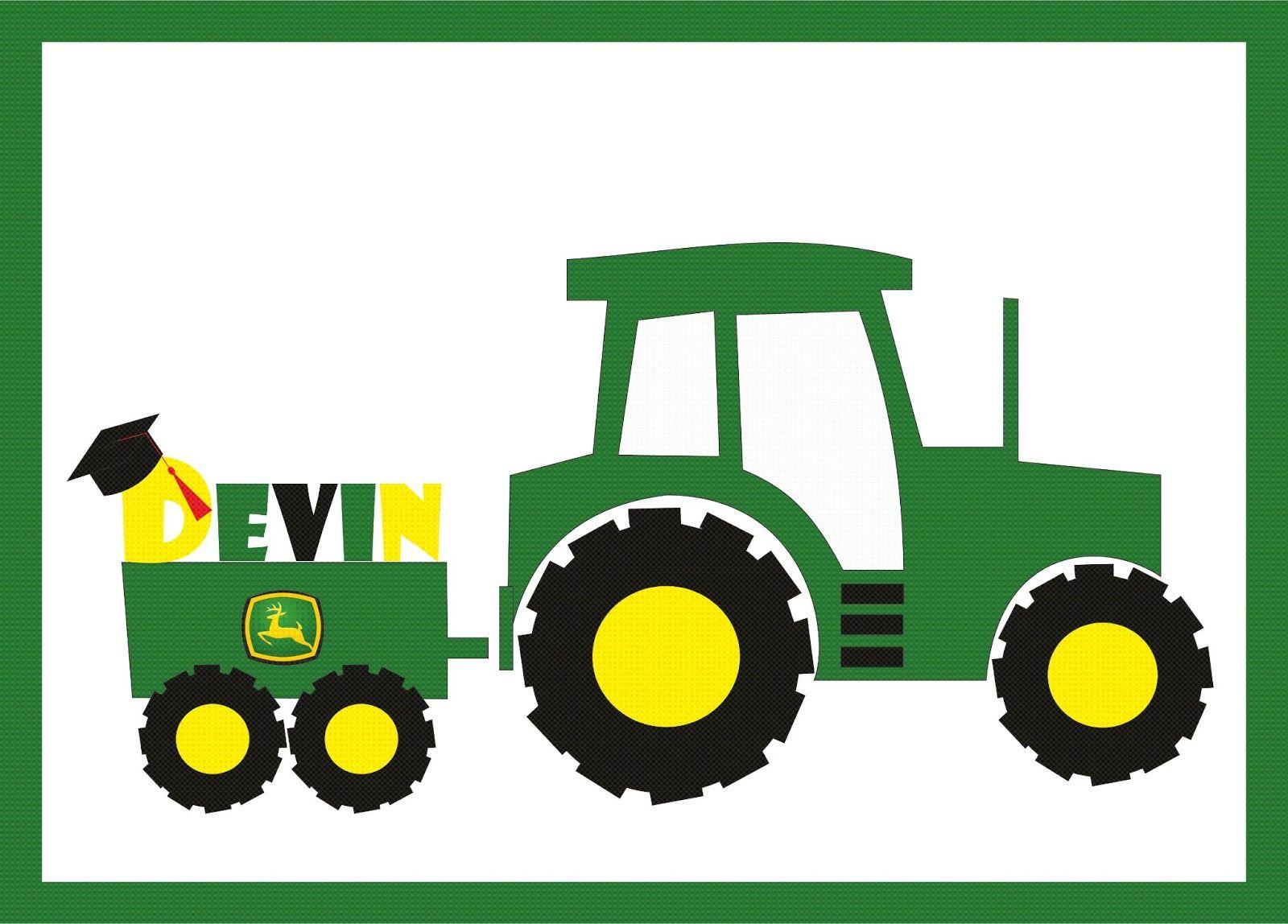 Green Tractor Clip Art.