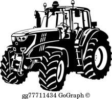 Farm Tractor Clip Art.