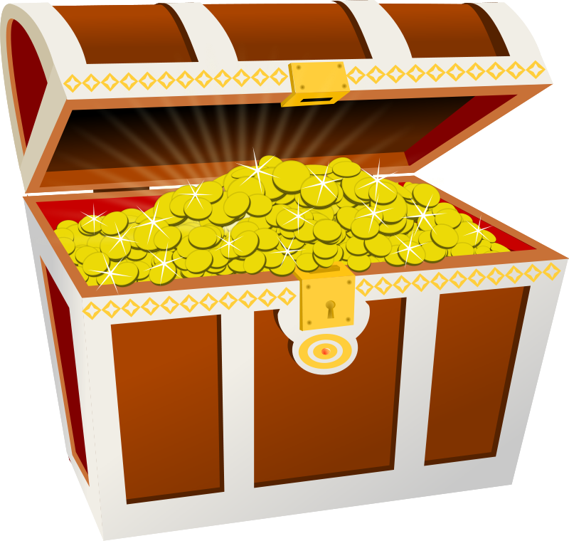 Free Clipart: Treasure chest.