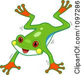 Tree Frog Clip Art.